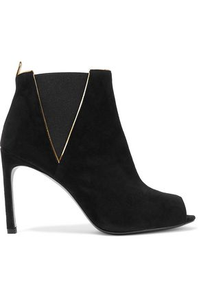 STUART WEITZMAN Griff leather-trimmed suede ankle boots