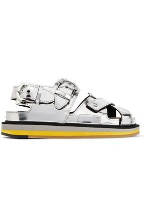 MAISON MARGIELA Metallic-leather sandals