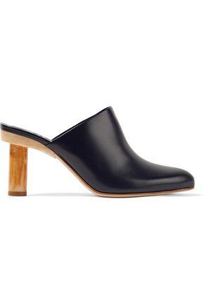TIBI Zoe leather mules