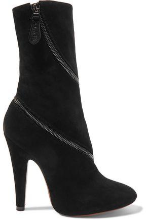 ALAÏA Zipped suede boots