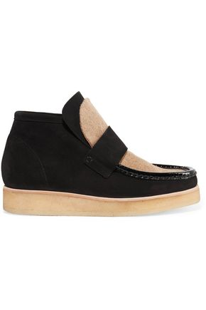 ACNE STUDIOS Kingston felt-paneled suede ankle boots
