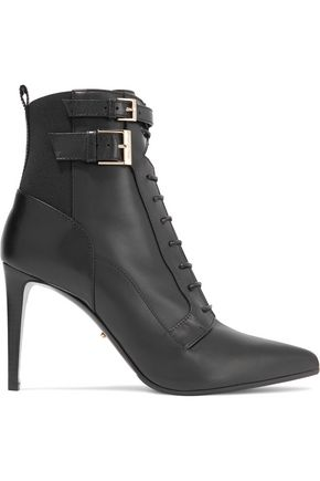 SERGIO ROSSI Lace-up leather ankle boots