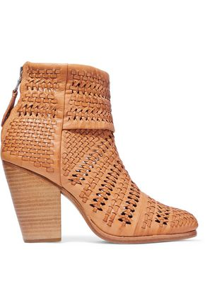RAG & BONE Classic Newbury cutout woven leather ankle boots