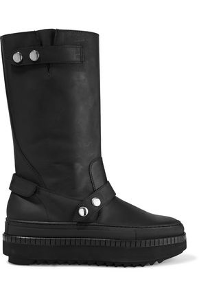 MOSCHINO Platform leather boots