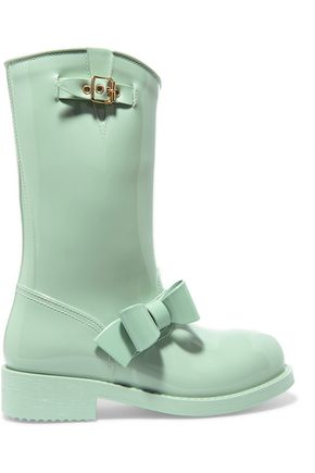 REDValentino Bow-embellished rubber rain boots