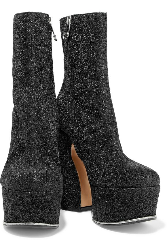 Trunk glittered coated-leather platform ankle boots | MAISON MARGIELA | Sale  up to 70% off | THE OUTNET