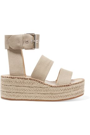 RAG & BONE Tara canvas espadrille platform sandals
