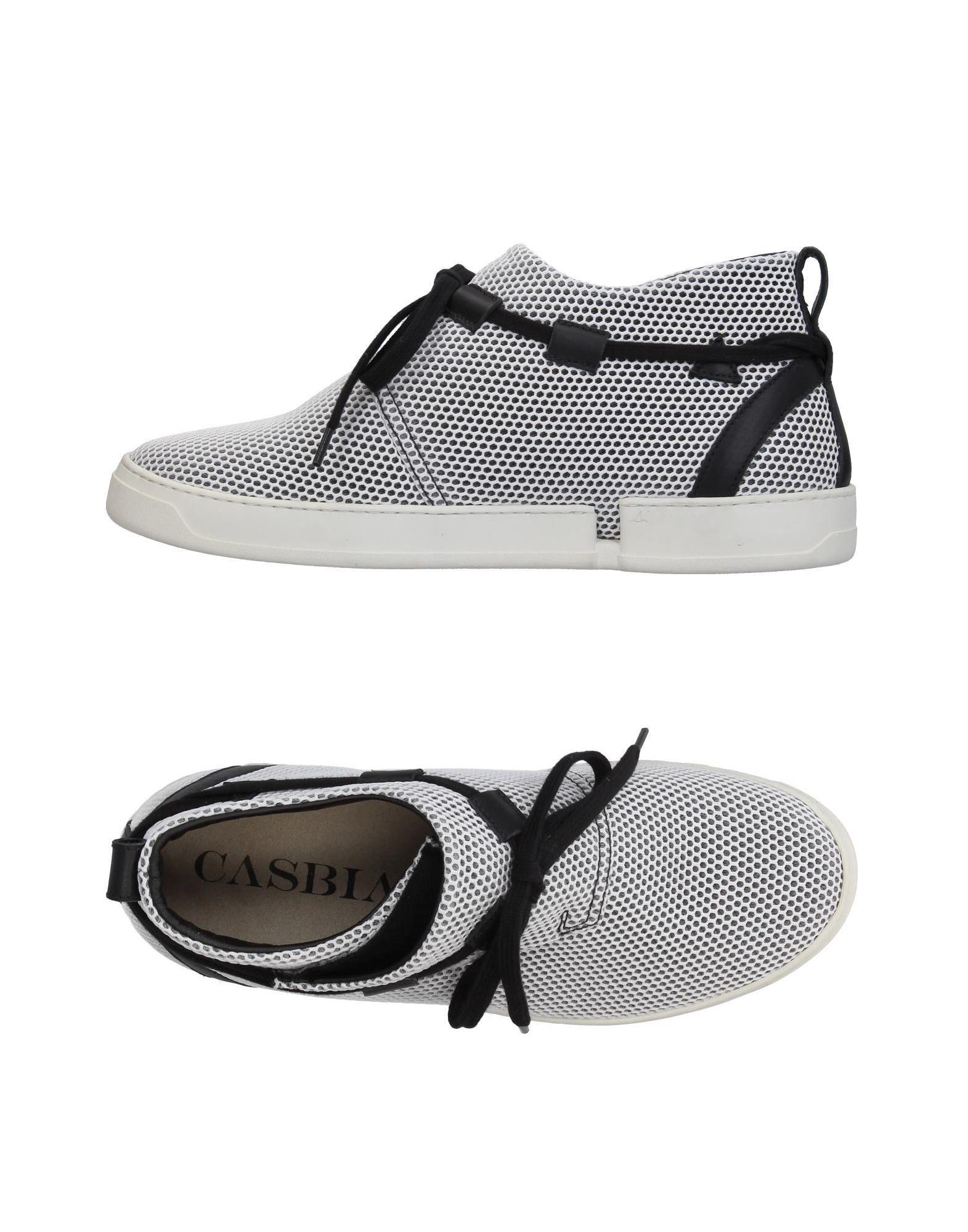 《送料無料》CASBIA メンズ スニーカー&テニスシューズ(ハイカット) ホワイト 40 紡績繊維
