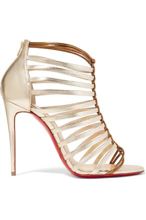 CHRISTIAN LOUBOUTIN Milla 100 metallic leather sandals