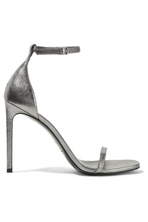 SAINT LAURENT Jane metallic textured-leather sandals