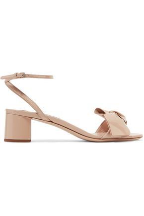 MIU MIU Bow-embellished patent-leather sandals