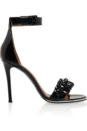 GIVENCHY Monia patent-leather sandals with crystals