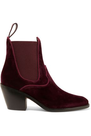 velvet-ankle-boots by chloÉ