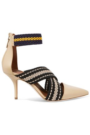 MALONE SOULIERS + Roksanda woven and leather pumps