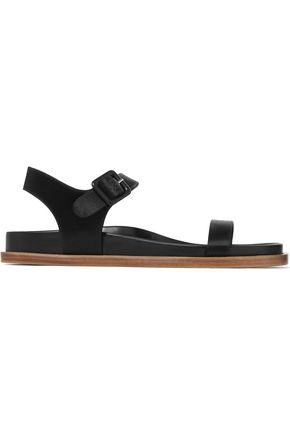 JIL SANDER Satin and leather sandals