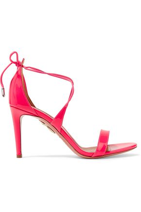 AQUAZZURA Linda patent-leather sandals