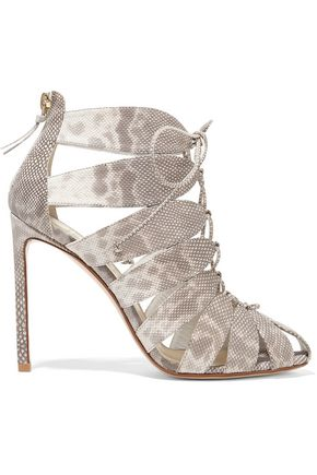 FRANCESCO RUSSO Lace-up karung sandals