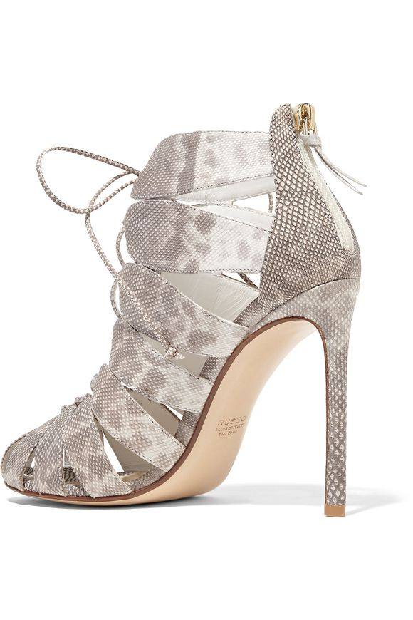 Lace-up karung sandals | FRANCESCO RUSSO | Sale up to 70% off | THE OUTNET