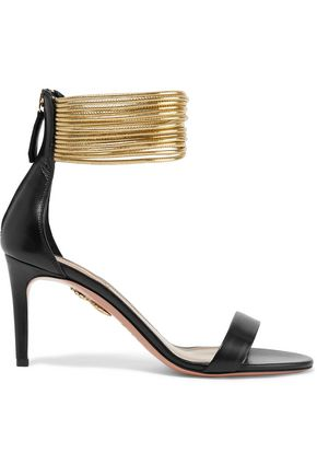 AQUAZZURA Spin-Me-Around leather sandals