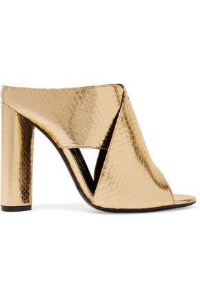 TOM FORD Metallic ayers mules