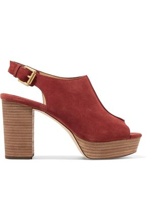 MICHAEL MICHAEL KORS Piper Sling suede platform sandals