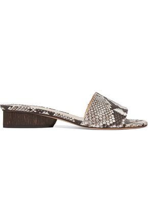 PAUL ANDREW Lina python sandals