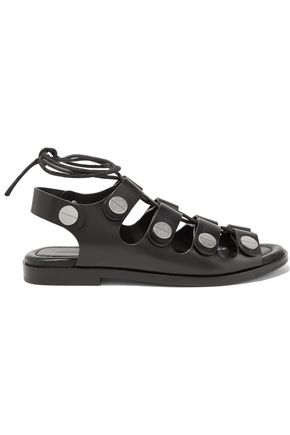 ALEXANDER WANG Patricia embellished lace-up leather sandals