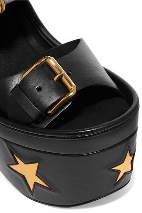 STELLA McCARTNEY Cowper appliquéd faux leather platform sandals