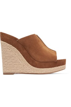 MICHAEL KORS COLLECTION Charlize suede wedge sandals