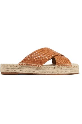 MICHAEL KORS COLLECTION Destin woven leather slides