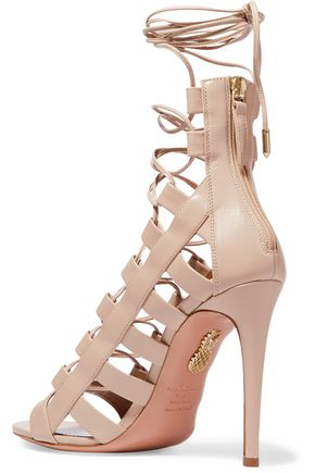 ed9b9dacc54 ... AQUAZZURA Amazon lace-up leather sandals