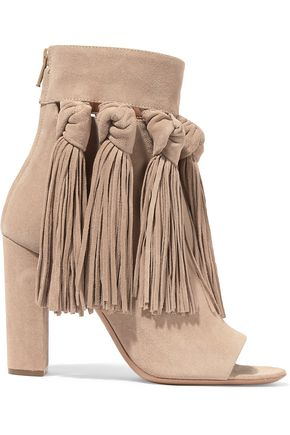 CHLOÉ Tasseled suede ankle boots