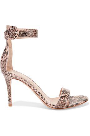 GIANVITO ROSSI Portofino python sandals