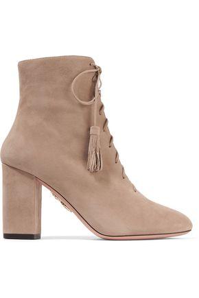 AQUAZZURA Jourdan suede ankle boots