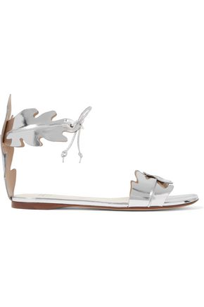 FRANCESCO RUSSO Mirrored-leather sandals