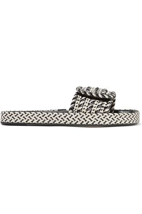 ISABEL MARANT ÉTOILE Étoile Enki woven and leather slides
