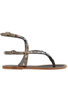 ISABEL MARANT Embellished leather sandals