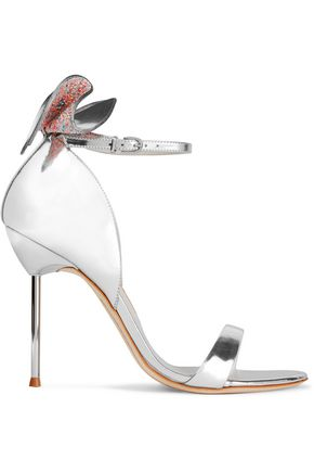 SOPHIA WEBSTER Maya bow-embellished metallic leather sandals