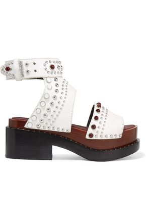 3.1 PHILLIP LIM Studded cracked-leather platform sandals