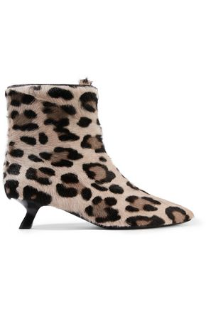 TOM FORD Leopard-print calf hair ankle boots