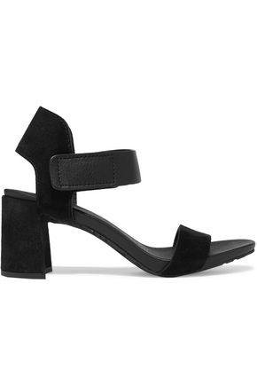PEDRO GARCÍA Willa textured-leather and suede sandals