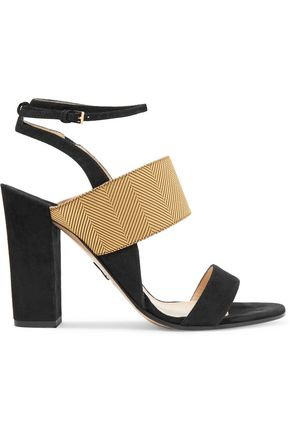 PAUL ANDREW Xiamen suede and metallic jacquard sandals