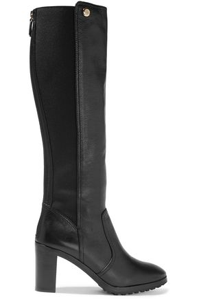 TORY BURCH Sullivan textured-leather knee boots