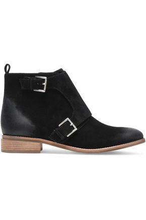 MICHAEL MICHAEL KORS Adams Monk buckled suede ankle boots