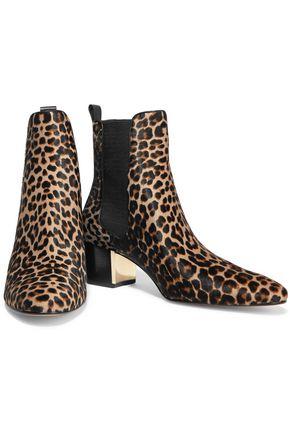 Yvette leopard print calf hair ankle boots | MICHAEL KORS