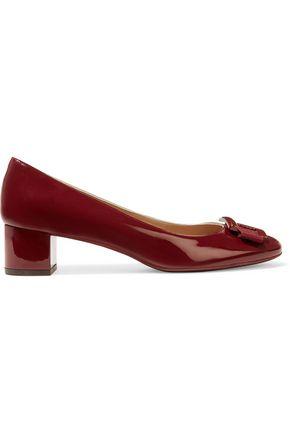 SALVATORE FERRAGAMO Ninna bow-embellished patent-leather pumps