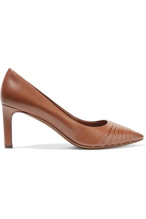 SALVATORE FERRAGAMO Funny paneled leather pumps