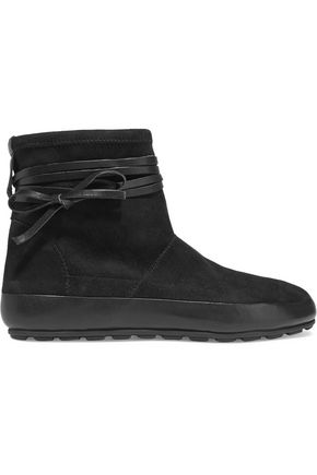 ISABEL MARANT Minsi leather-trimmed suede boots