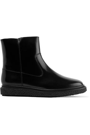 ISABEL MARANT ÉTOILE Connor glossed-leather ankle boots
