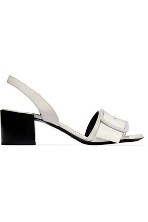 JIL SANDER Buckled patent-leather sandals